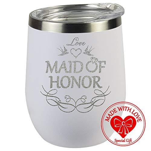 Maid Of Honor Geschenk-Glas für Brautjungfer, Brautjungfer, Party-Geschenk, Geschenk, Geschenk, Geschenk, Geschenk, Geschenk