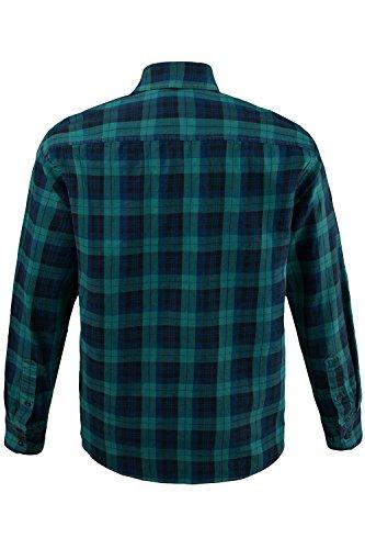 JP 1880 Homme Grandes tailles Chemise à carreaux 700976 vert foncé