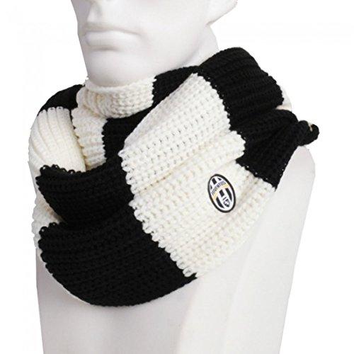 Bufanda con anilla, color blanco talla de vestir oficial Juventus 01796 *