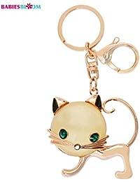 Babies Bloom Cream Hello Kitty Rhinestone Keychain Bag Charm
