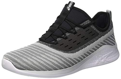 20. ASICS Men's Fuzetora Twist Stone Grey/Black Running Shoes