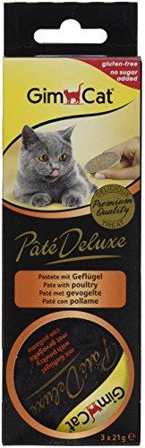 Geflügel – feine Pastete als köstliche Zwischenmahlzeit für Katzen – ohne Zuckerzusatz mit Fleisch – 8 Packungen (24 Portionen) ()