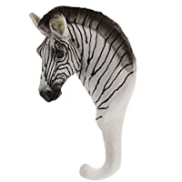 F Fityle Vintage Giraffe Zebra Elephant Head Suction Hook Window Wall Strong Suction Wall Hooks Hanger Hat Clothes Coat Hanging Rack