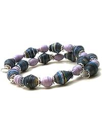 Wrap around Bracelet Mardi Gras Handcrafted by Mimi Pinto