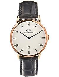 Daniel Wellington Dapper Herren-Armbanduhr Analog Quarz Leder - DW00100107