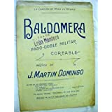 Partitura - Musical Score: BALDOMERA - Pasodoble militar coreable