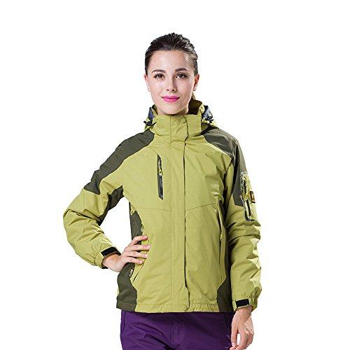 Unisex Regenjacke Regenmantel Parka Übergangsjacke Skianzug Kapuzenmantel Wasserdicht Warm Outdoor Radfahren 27# olivgrün