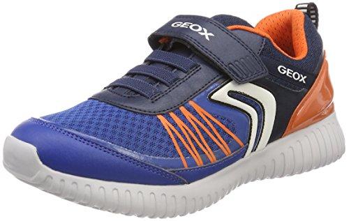 Geox Jungen J Waviness Boy C Sneaker, Blau (Navy/Orange), 29 EU (Geox Jungen Sneakers)