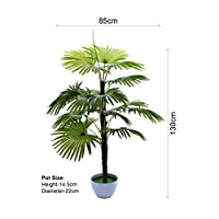 YATAI Artificial Plants 1.3 Meters High Arecaceae Palm Tree Date Plant With Plastic Planter For Home Garden Decoration – Fake Tree – Fake Plants
