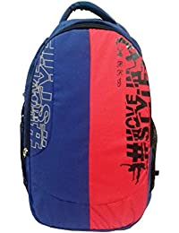 RoseBud Stylish High Quality Blue And Red (30-35 Lts/18 Inches/12-18 Years) 3 Compartment Back And Shoulder Strap...