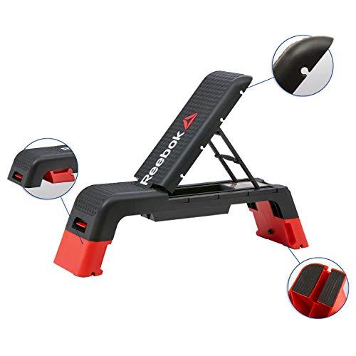 Reebok Fitness Bank grau/hellrot