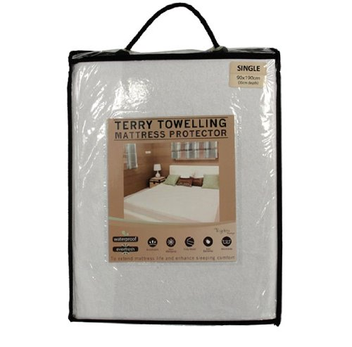 Cosy Touch Bedding Drap-housse en éponge imperméable, Single Bed (90cm x 190cm)