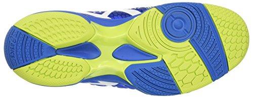 Asics Gel-Blast 7, Chaussures de Handball Américain Homme Multicolore (Directoire Blue/energy Green/white)