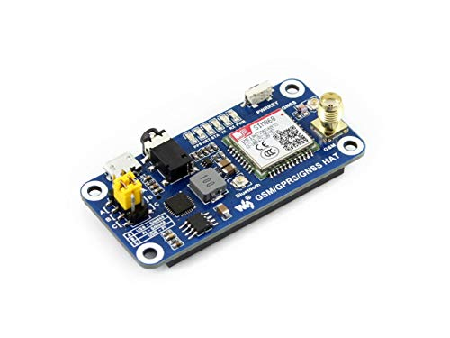 Waveshare Raspberry Pi GSM/GPRS/GNSS/Bluetooth HAT Expansion Board with  Low-Power Consumption Based on SIM868 Compatible with Raspberry Pi 2B 3B  Zero