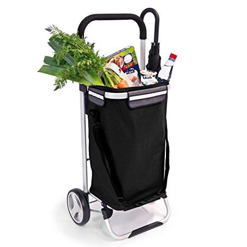 bremermann® Einkaufstrolley, Handwagen, Einkaufswagen mit abnehmbarer Tasche (schwarz)