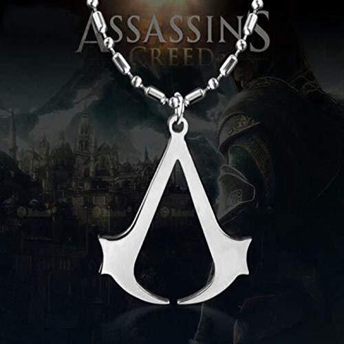 Assassins Creed Ezio Titanlegierung Anhänger Halskette Edelstahl Anhänger Halskette Für Männer - Assassine Kostüm Muster