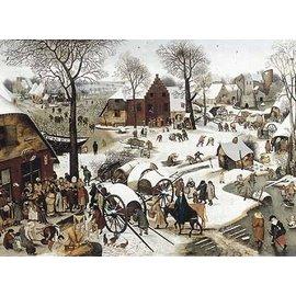 Puzzle Michèle Wilson-puzzle d'art en bois pour adultes-350 pièces-Le denombrement de Bethleem BRUEGHEL