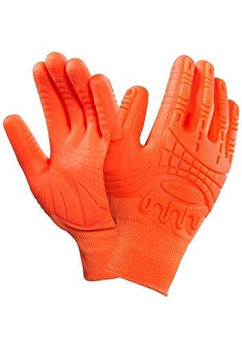 Sehr gute Sichtbarkeit dank greller Arbeitshandschuhe, Ansell 97-321activarmr Mad Grip Handschuhe Größe Wahl