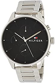 Tommy Hilfiger 1791485 Mens Quartz Watch, Analog Display and Stainless Steel Strap, Black