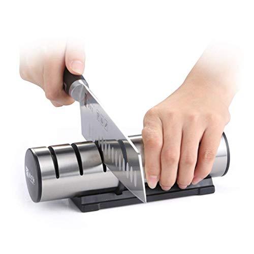 TBB Manuelle Messerschärfer für Köche Messer und Taschenmesser - 3-Stufiges Schärfsystem mit...