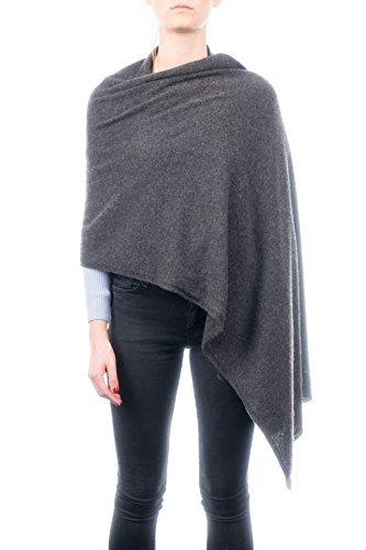 DALLE PIANE CASHMERE - Stola aus 100% Kaschmir - für Frau, Farbe: Anthrazit, Einheitsgröße
