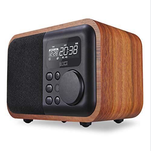 Hölzern Wecker Bluetooth Klingen Karte Wecker Tragbar U Festplatte Fernbedienung Radio Hände Frei Anruf