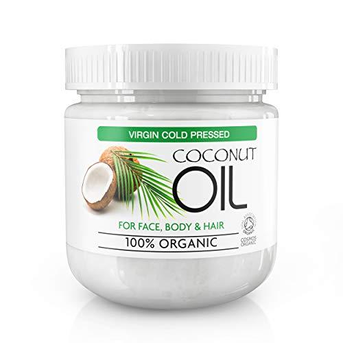 Extra Virgin Coconut Oil 100% Bio - Für Haut- und Körperpflege, Feuchtigkeitspflege für alle Hauttypen, reduziert Alterserscheinungen wie Fältchen und Augenringe, 500ml