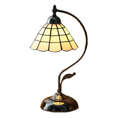 Erleuchtung Nordeuropäische und amerikanische Lampe Schlafzimmer Nachttischlampe Studie Retro Tischlampe Republik China Alte Shanghai Mediterrane Glastischlampe Tischlampe -