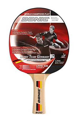 Donic-Schildkröt Tischtennisschläger Team Germany 600, 1,7 mm Schwamm, Donic 2-Stern ITTF Belag, 733065