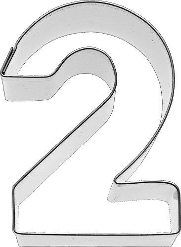 Birkmann Ausstechform Zahl 2, 6 cm, Edelstahl
