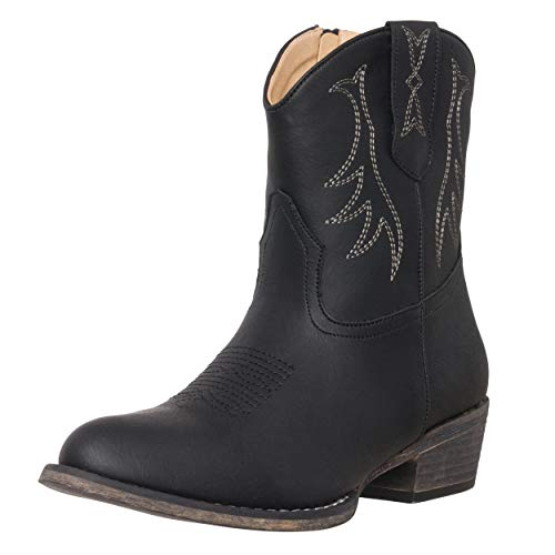 Womens Western Short Cowgirl Cowboy Boot Madison Round Toe by Silver Canyon