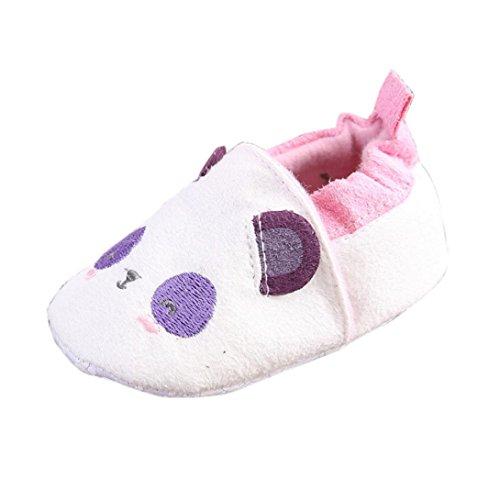 Chaussures de bébé,Fulltime® Lit de bébé fille chaussures fleur souple semelle anti-dérapant Sneakers Blanc