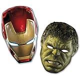 Máscaras 6 unidad Avengers 2 5Pr85412 partido del niño decoraciones de la fiesta de cumpleaños - Marvel