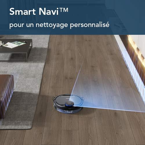 ECOVACS DEEBOT OZMO 930 - Aspirateur robot 2 en 1 pour sols durs et tapis - Aspirateur nettoyeur sans fil - Programmable via smartphone et compatible avec Amazon Alexa