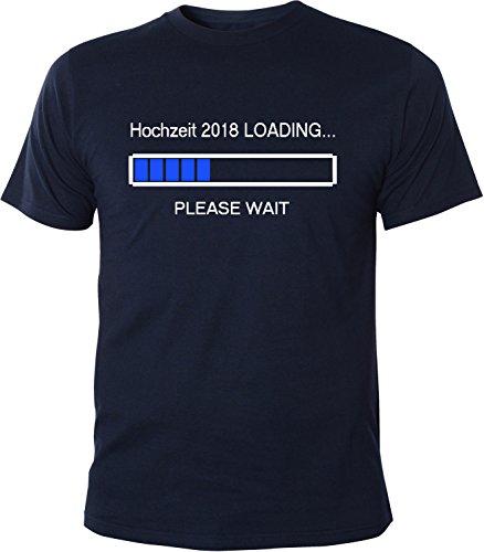 Mister Merchandise Herren Men T-Shirt Hochzeit 2018 Loading Tee Shirt bedruckt Navy
