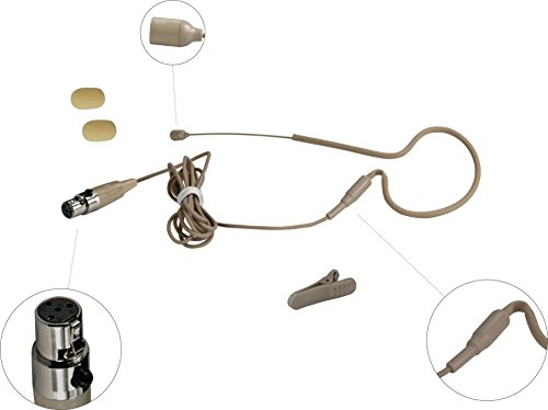 HEIMU HEIMU Single Earhook Wired Headset Boom Mini XLR Omni-Directional Microphone (for Shure type 4 pin mini plug SKIN) 41VlTa0TiaL