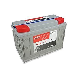 ECTIVE 120Ah 12V AGM Batterie EDC-Serie VRLA Versorgungsbatterie in 7 Varianten: 65Ah - 230 Ah (wartungsfrei)