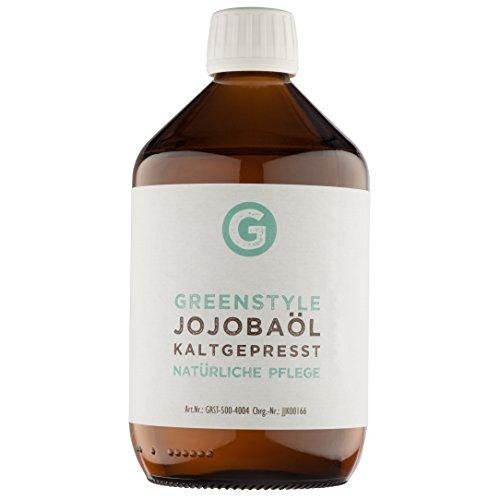 Jojobaöl Gold kaltgepresst (500ml) - 100% reines Öl für Haut und Haar von greenstyle