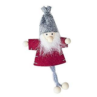 Kardu.C 3 Pcs Mini Christmas Cloth Puppe Anhänger, Süße Puppe Ornament Weihnachtsverzierung Hölzerne Weihnachtshauptdekor