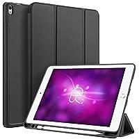 Radoo Funda Compatible iPad Air 3 10,5 Pulgadas 2019 / iPad Pro 10,5 Pulgadas 2017 con Soporte Incorporado de Pencil Original, Premium PU Leather con Interior de TPU, Stand Fución Case Cover - Negro