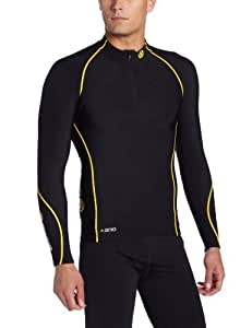 Skins Herren A200 Thermal Mens Long Sleeve Mck Neck W Zip, Black/Yellow, XS, B60052025XS