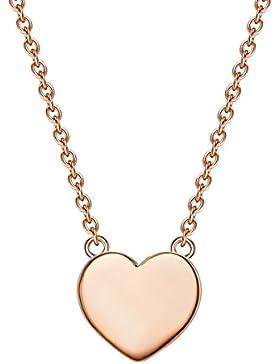 Glanzstücke München Damen-Silberhalskette mit Anhänger Herz Sterling Silber rosévergoldet 40 + 5 cm lang - Silberkette...
