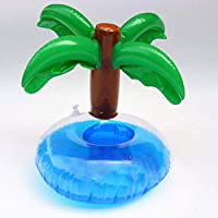 zhengao Wonderful New Inflatable Plam Tree Drink Pool Float Inflatable Plam Tree Beverage Cup Holder Event Christmas Party Supplies for Home Decoration