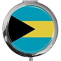 "metALUm - Extragroße Pillendose in runder Form""Flagge Bahamas"" preisvergleich bei billige-tabletten.eu"