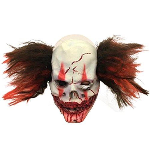 Gruseliger Masken Horror Schädel Killer Clown Blutiger Mund für Halloween Kostüm Party Maske