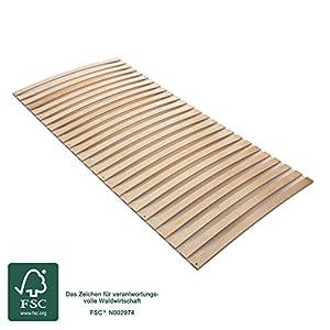 MaDeRa Natura Federleisten Rollrost, extrem stabil, aus Birkenschichtholz auch für Wohnmobile Größe 80×200