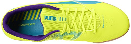 Puma evoSPEED Sala FuÃ?ball-Schuh Fluorescent Yellow/Scuba Blue/Prism Violet