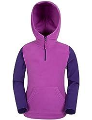 Mountain Warehouse Sweat-shirt Capuche Enfant Fille Garçon Polaire Camber