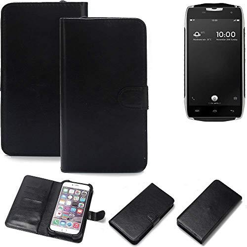 K-S-Trade Wallet Case Handyhülle für Doogee T5 Schutz Hülle Smartphone Flip Cover Flipstyle Tasche Schutzhülle Flipcover Slim Bumper schwarz, 1x