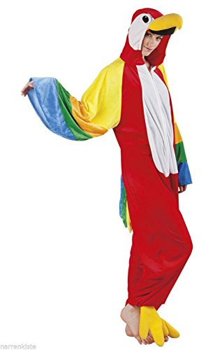 B88046-165 Papagei Parrot Kostüm Damen Herren Gr.bis max. 165 cm Körpergröße